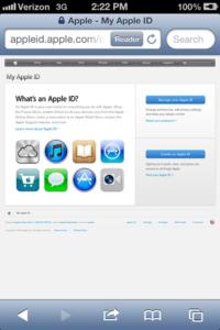 Apple ID Page