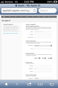 My Apple ID Page