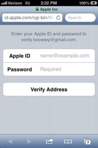 Apple ID Blank Detail Fields
