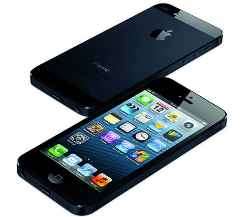 Picture of the front and back of the iPhone 5