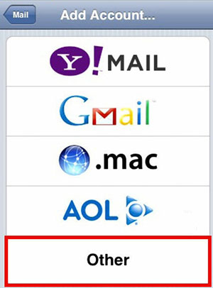 How to setup and verify your yahoo mail account on the iphone 5 screenshot of iphone mail ccuart Choice Image