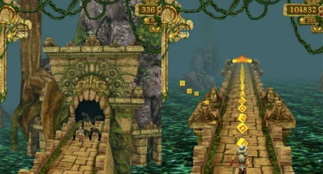 Temple Run Gameplay on the iPhone 4S