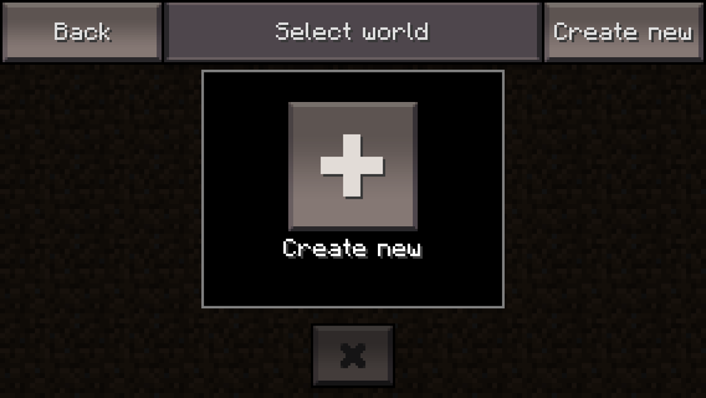 Create World in Minecraft PE